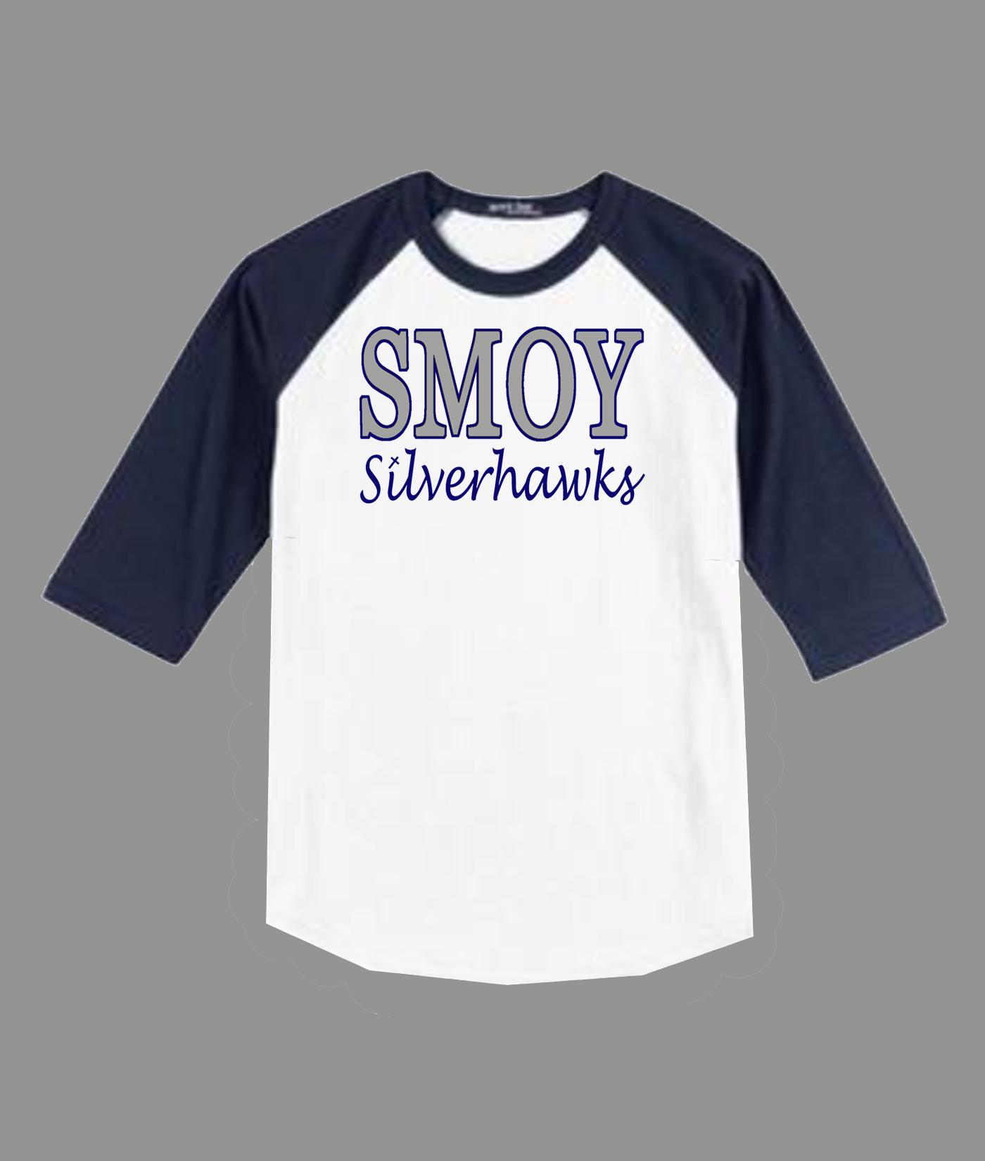 3/4 Sleeve Navy White T-shirt SMOY Original