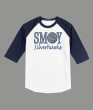 3/4 Sleeve Navy White T-shirt SMOY Volleyball Glitter