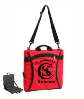 Red Padded Stadium Seat with Carrying Strap STC Logo