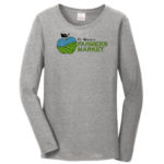 Fort Wayne Farmers Market Grey Long Sleeve Tee GLITTER Ladies