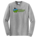 Fort Wayne Farmers Market Grey Long Sleeve Tee GLITTER Mens Youth