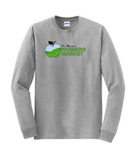 Fort Wayne Farmers Market Grey Long Sleeve Tee Mens Youth