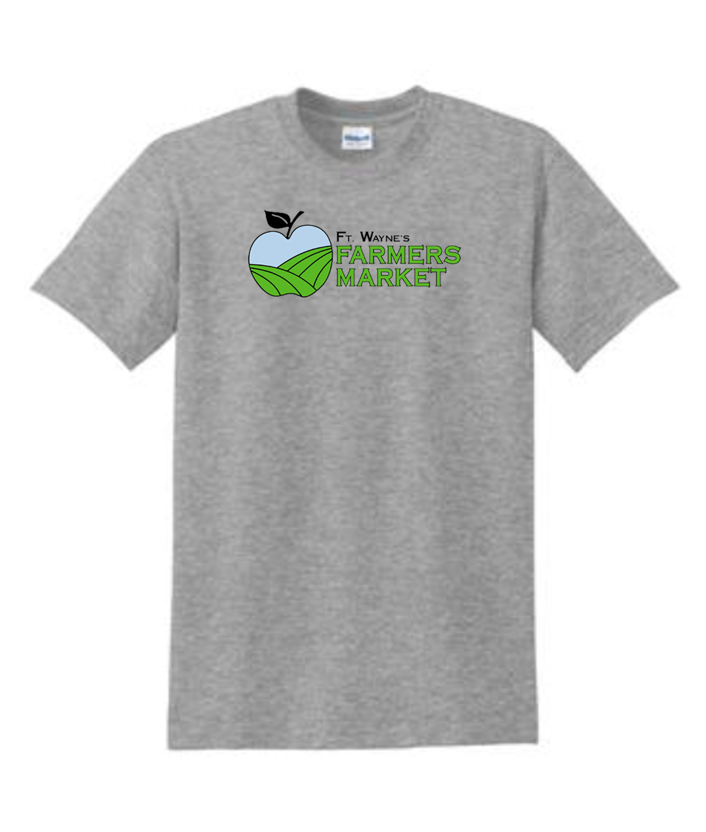 Grey Cotton T Shirt Fort Wayne Farmers Market Mens Youth