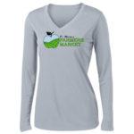 Fort Wayne Farmers Market Performance Grey Long Sleeve Tee Ladies