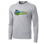 Fort Wayne Farmers Market Performance Grey Long Sleeve Tee Mens GLITTER Youth