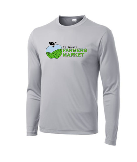 Fort Wayne Farmers Market Performance Grey Long Sleeve Tee Mens Youth