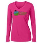 Fort Wayne Farmers Market Performance Pink Long Sleeve Tee GLITTER Ladies