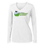 Fort Wayne Farmers Market Performance White Long Sleeve Tee Ladies