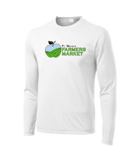 Fort Wayne Farmers Market Performance White Long Sleeve Tee Mens Youth