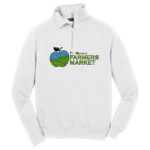 Fort Wayne Farmers Market White Ladies Quarter Zip GLITTER