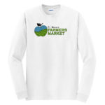 Fort Wayne Farmers Market White Long Sleeve Tee GLITTER Mens Youth