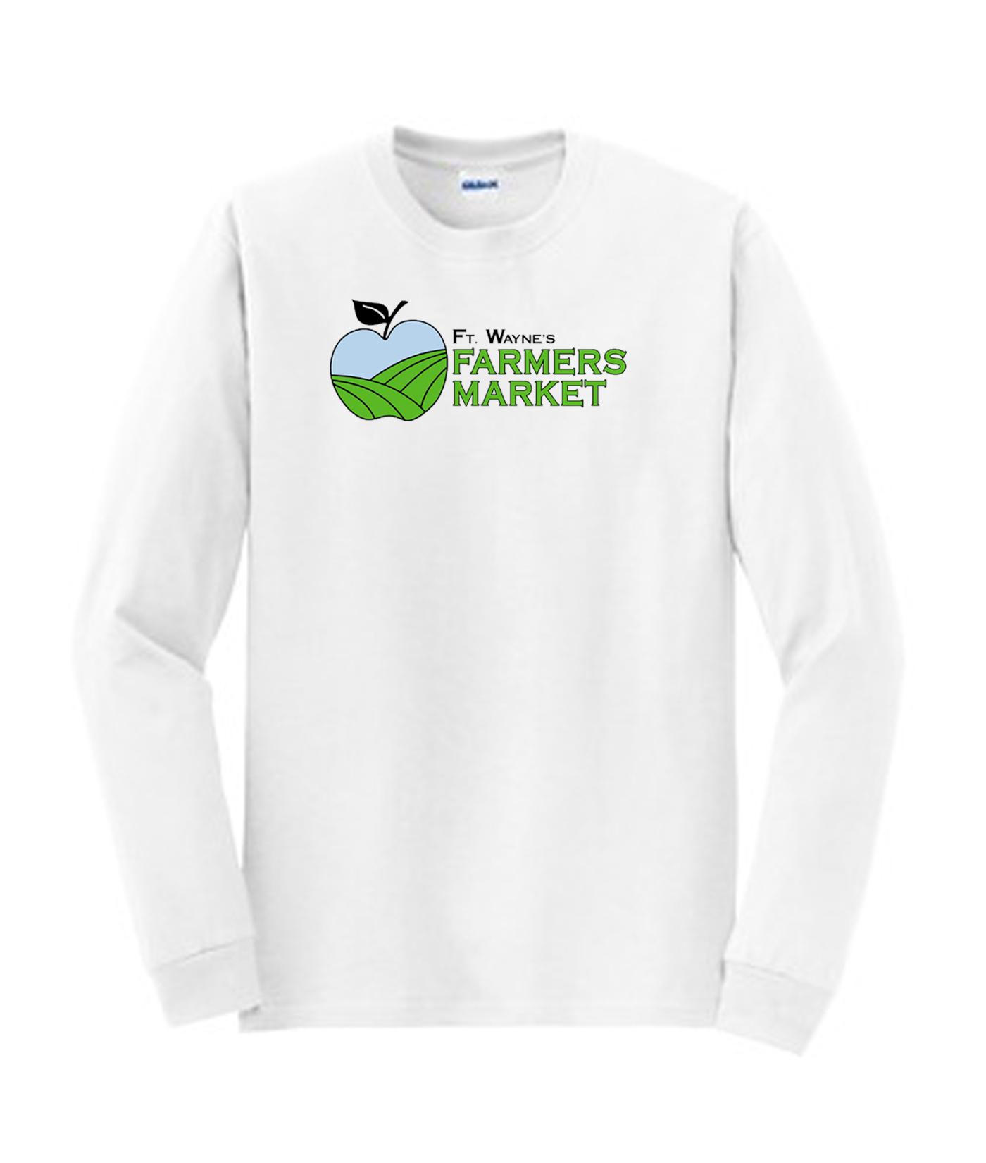 Fort Wayne Farmers Market White Long Sleeve Tee Mens Youth