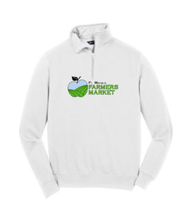 Fort Wayne Farmers Market White Mens Quarter Zip