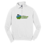 Fort Wayne Farmers Market White Mens Quarter Zip GLITTER