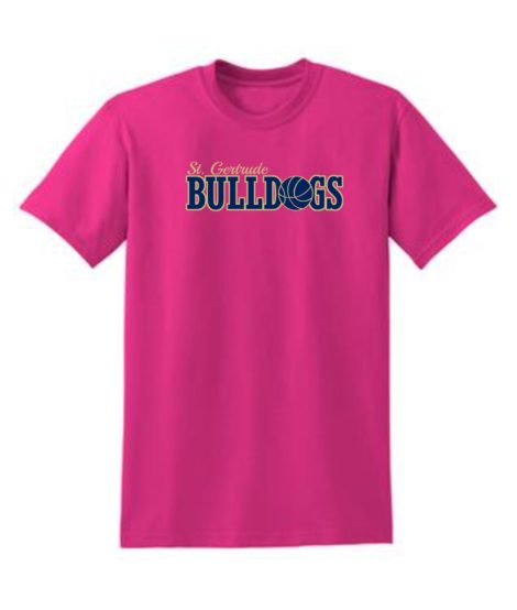 Mens Youth Tee Pink Basketball