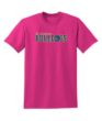 Mens Youth Tee Pink Basketball GLITTER