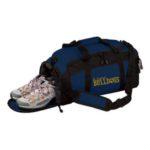 Navy Duffle Bag_ Paw Gold GLITTER