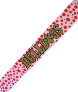 Pink Polka Dot Headband Bulldogs O Paw Gold Glitter