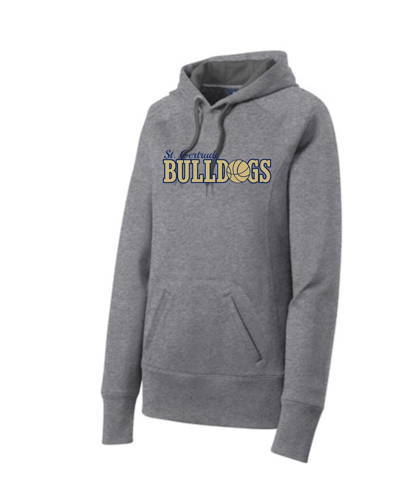 ST Grey Ladies Hoodie_ Basketball Navy Out Gold In