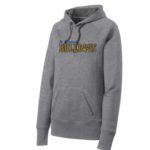 ST Grey Ladies Hoodie_ Paw Navy Out Gold In GLITTER