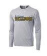 Grey Mens Youth Performance Long Sleeve Basketball GLITTER