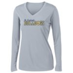 Ladies Grey Performance LS_Basketball Navy Out
