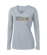 Ladies Grey Performance Long Sleeve Basketball