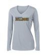 Ladies Grey Performance Long Sleeve BasketballGLITTER