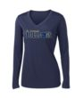 Ladies Navy Performance Long Sleeve Basketball