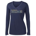 ST Ladies Navy Performance LS_Basketball Gold Out GLITTER