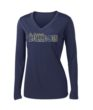 Ladies Navy Performance Long Sleeve Basketball GLITTER