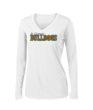 Ladies White Performance Long Sleeve Basketball GLITTER