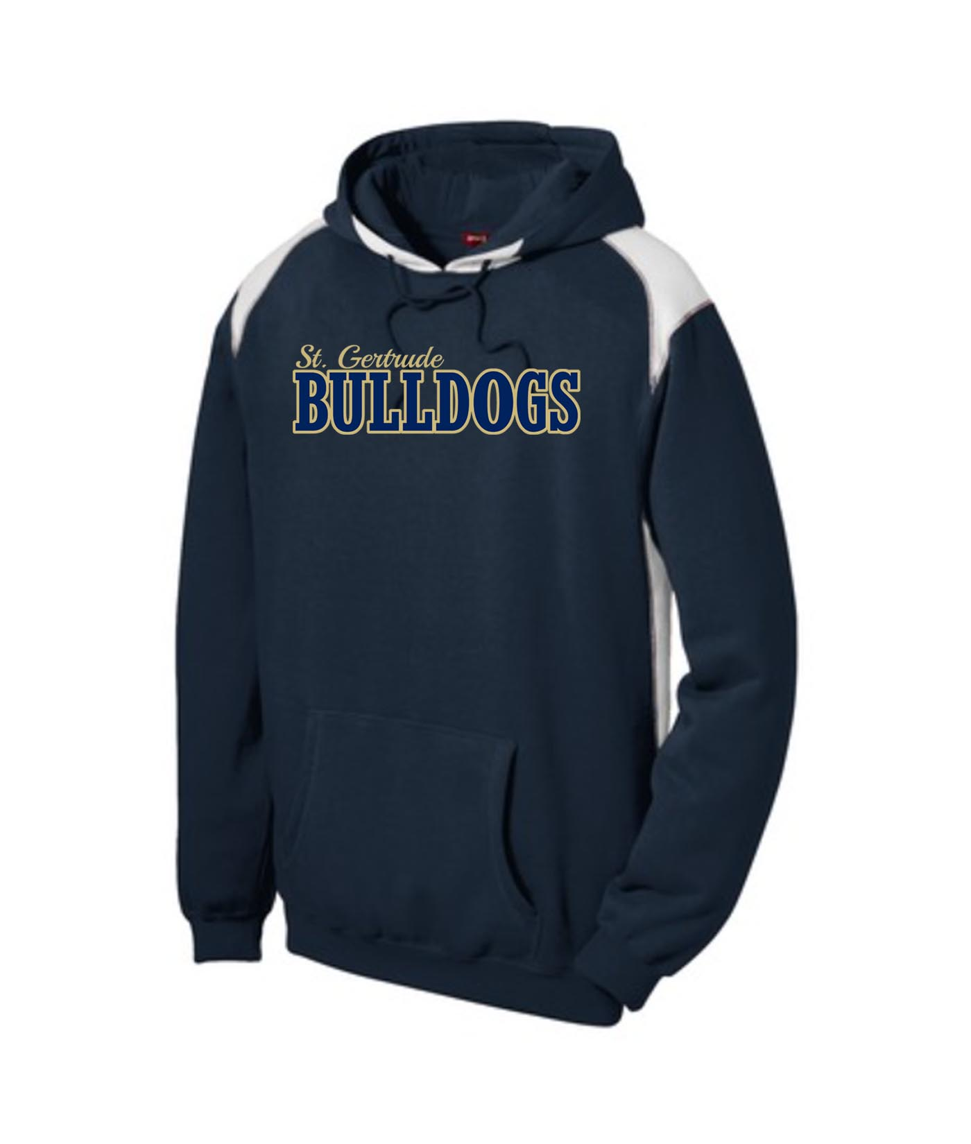 ST Navy Colorblock Hoodie_ Regular Gold Out Navy In