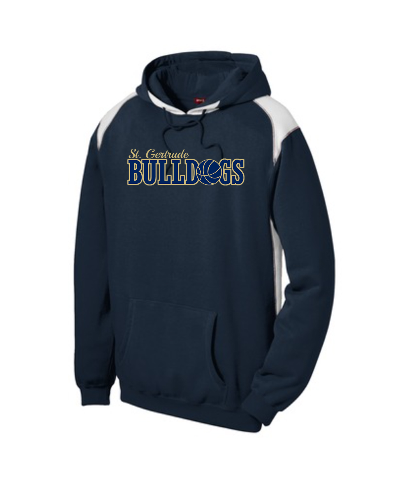 ST Navy Colorblock Hoodie_Basketball Gold Out Navy In