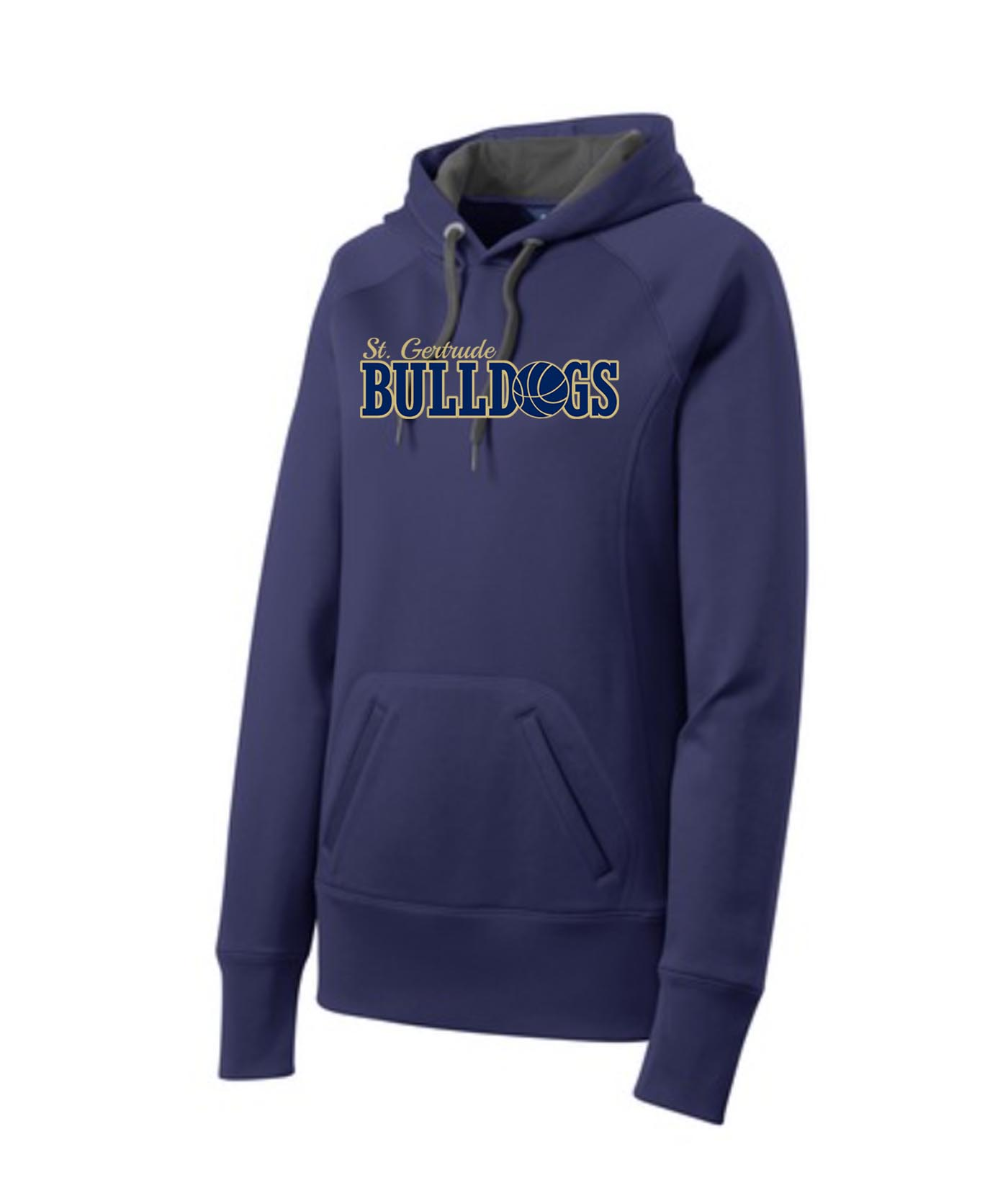 ST Navy Ladies Hoodie_ Basketball Gold Out Navy In