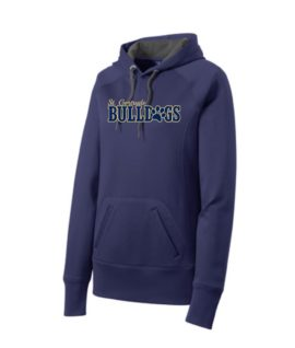 ST Navy Ladies Hoodie_ Paw Gold Out Navy In