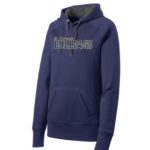 ST Navy Ladies Hoodie_ Paw Gold Out Navy In GLITTER