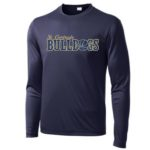 ST Navy Mens_Youth Poly Long Sleeve_Basketball Gold Out GLITTER