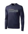 Navy Mens/Youth Performance Long Sleeve Paw GLITTER
