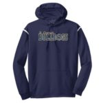 ST Navy Stripe White Hoodie_ Volleyball Gold Out Navy In GLITTER