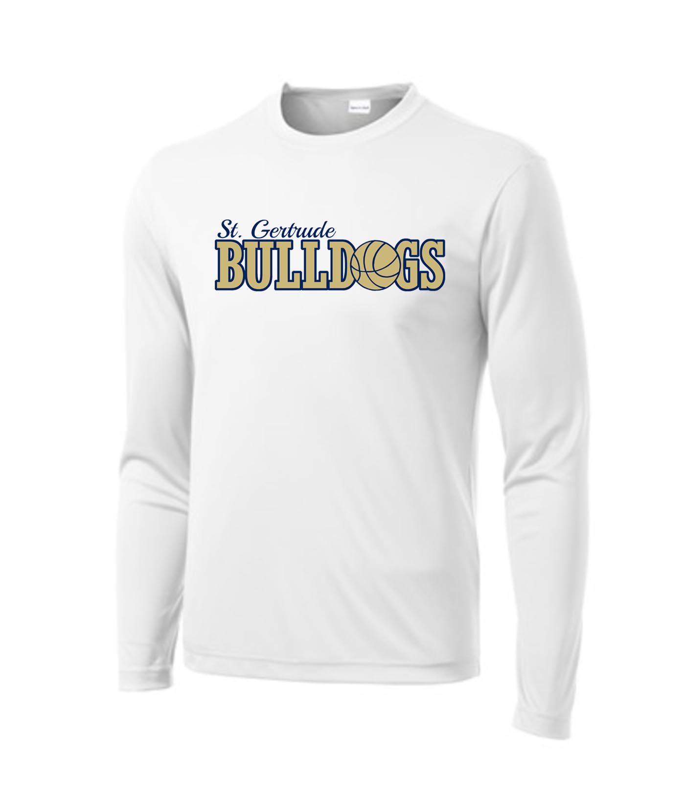 ST White Mens_Youth Poly Long Sleeve_Basketball Gold Out
