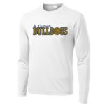 ST White Mens_Youth Poly Long Sleeve_Basketball Navy Out GLITTER
