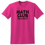 Math Club Hip To Be Square Pink T-Shirt