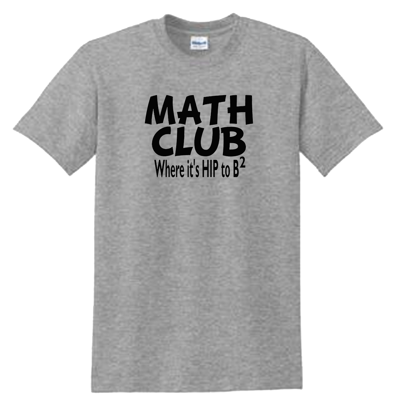 Math Club Hip To Be Squared Sport Grey T-Shirt