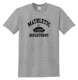 Mathletic Dept PI Sport Grey Tee