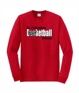 Red Long Sleeve T-Shirt Basketball Inside