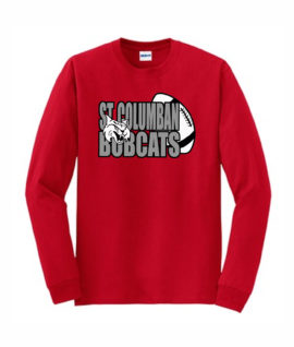 Red Long Sleeve T-Shirt Bobcat In Football