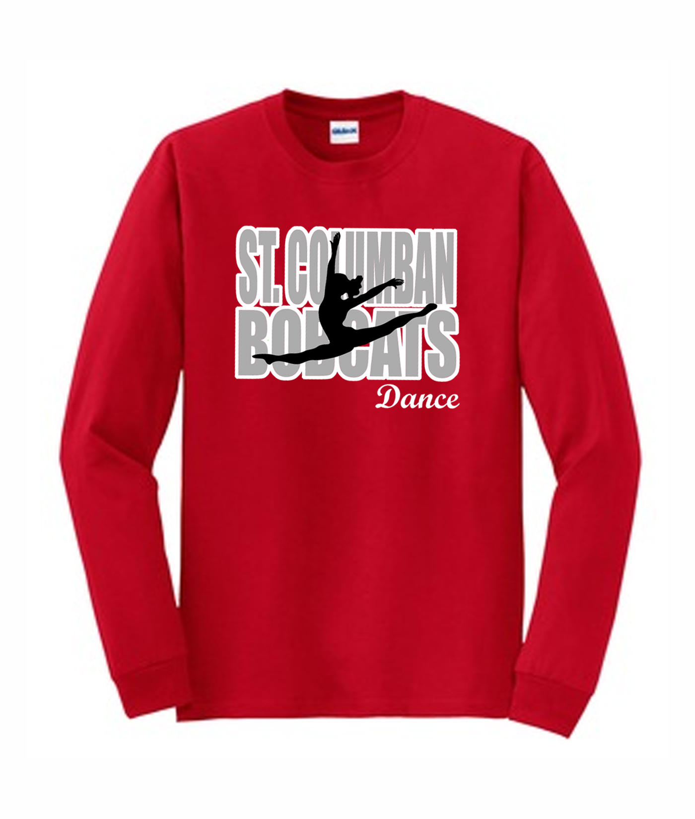 Red Long Sleeve T-Shirt Dance In Words