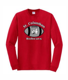 Red Long Sleeve T-Shirt Football Bobcats