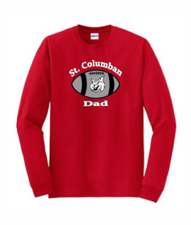 Red Long Sleeve T-Shirt Football Dad